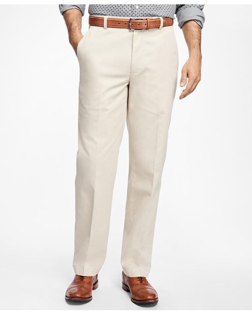 Brooks Brothers - Black Clark Fit Supima® Cotton Stretch Chinos for Men - Lyst