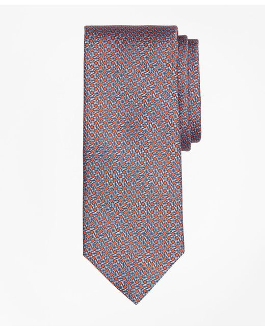 Brooks Brothers | Orange Chain Link Print Tie for Men | Lyst