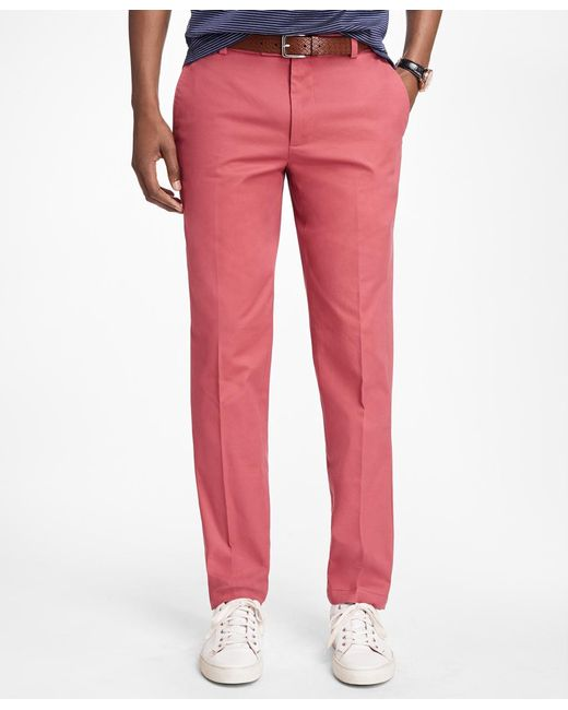 Brooks Brothers - Red Milano Fit Supima® Cotton Stretch Chinos for Men - Lyst