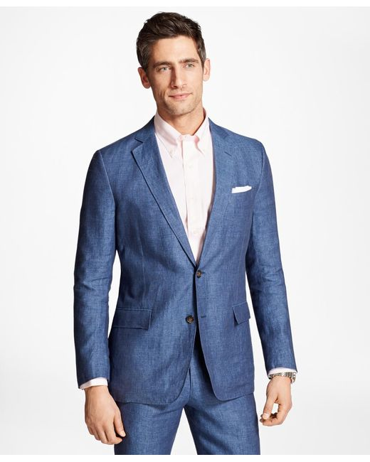 Brooks Brothers | Blue Regent Fit Linen Sport Coat for Men | Lyst