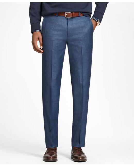 Brooks Brothers | Blue Milano Fit Wool Trousers for Men | Lyst