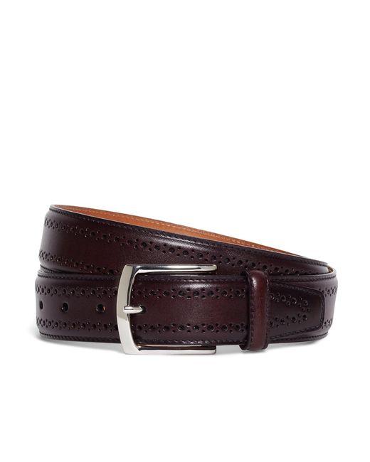 Brooks Brothers - Purple Allen Edmonds Perforated Belt for Men - Lyst