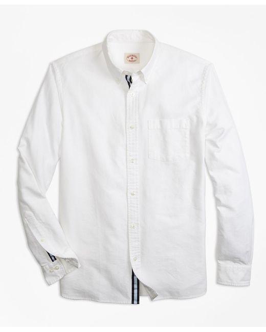 Lyst brooks brothers supima cotton oxford sport shirt for Supima cotton dress shirts