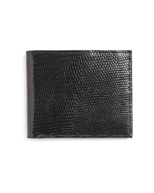 Brooks Brothers - Black Lizard Slim Card Case for Men - Lyst