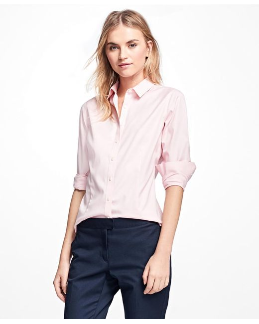 Brooks Brothers - Pink Non-iron Tailored-fit Dress Shirt - Lyst
