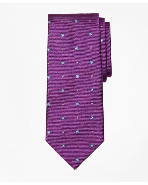 Brooks Brothers | Purple Spaced Circle And Square Tie for Men | Lyst