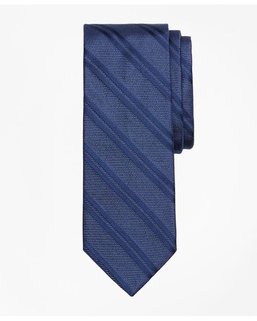 Brooks Brothers - Blue Heathered Double Stripe Tie for Men - Lyst