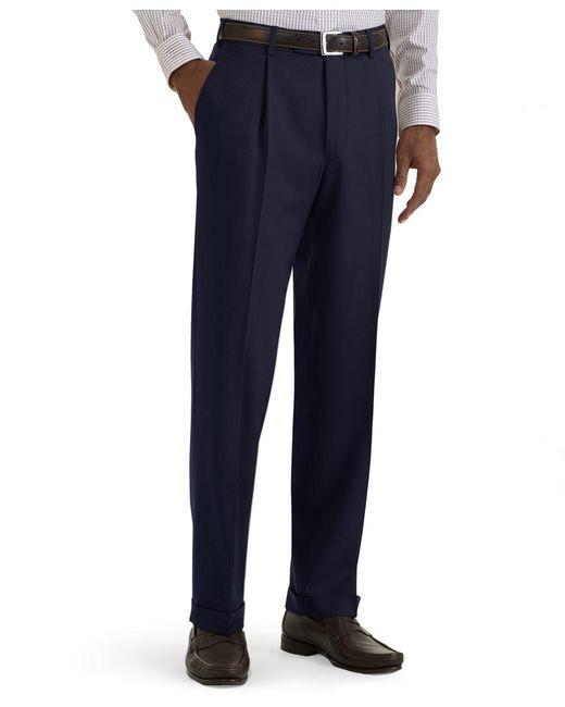 Brooks Brothers   Blue Regent Fit Pleat-front Classic Gabardine Trousers for Men   Lyst
