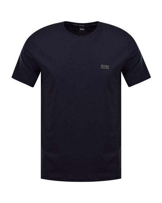 1989384c Boss Dark Blue Logo T-shirt in Blue for Men - Lyst