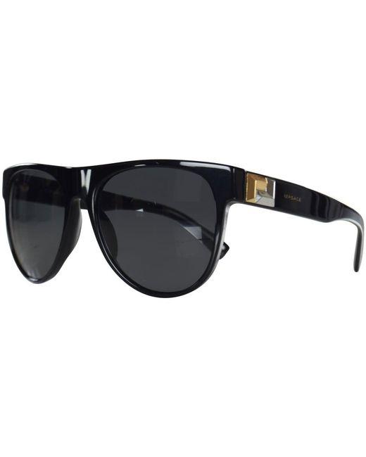 Versace - Accessories Black/gold Detail Wayfarer Sunglasses for Men - Lyst