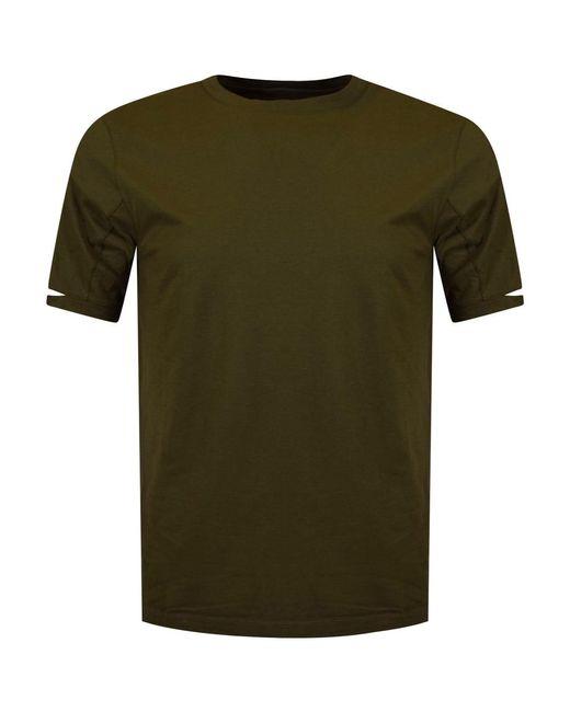 Helmut Lang - Green Khaki Split Sleeve T-shirt for Men - Lyst