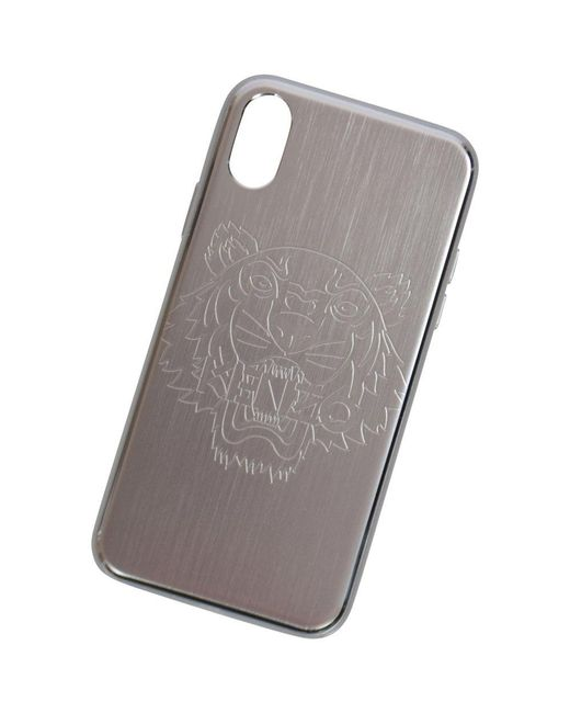 553689be12 KENZO Silver Iphone X Tiger Phone Case in Metallic for Men - Lyst
