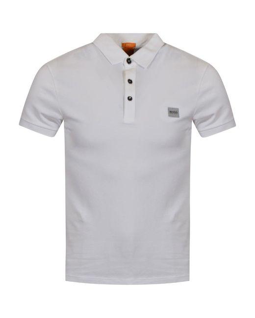 BOSS by Hugo Boss - White Logo Polo Shirt for Men - Lyst