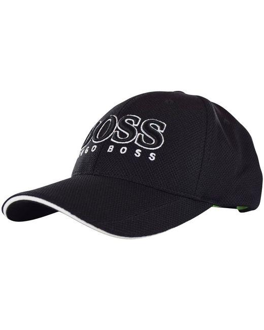 123d3e5b5a2fdd Lyst - BOSS Athleisure Black Lightweight Cap in Black for Men