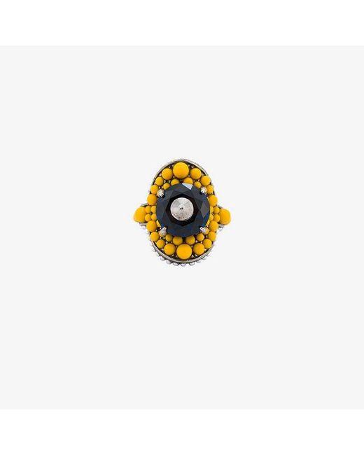 Gucci - Multicolor Multi-beaded Ring - Lyst