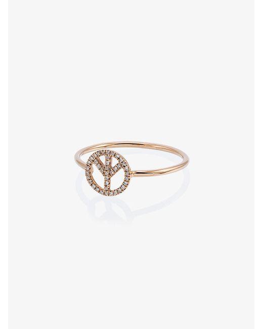Rosa De La Cruz wheat diamond ring - Metallic fe84B