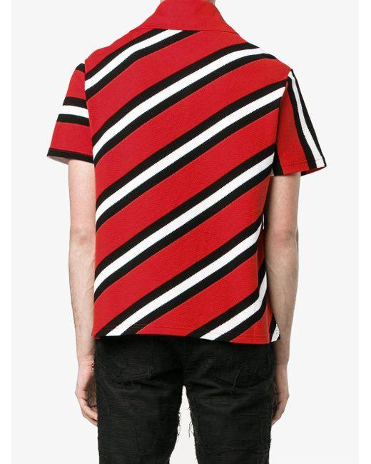 Balenciaga Classic Stripe Polo Shirt In Red For Men Lyst