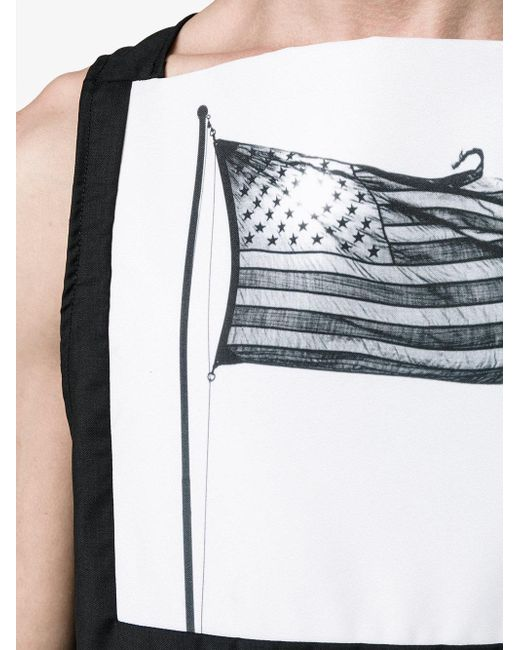 Raf simons x robert mapplethorpe american flag print vest for Raf simons robert mapplethorpe shirt