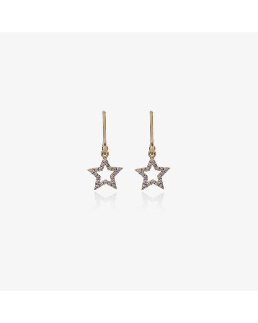 Rosa De La Cruz | Metallic White Diamond Star Earrings | Lyst