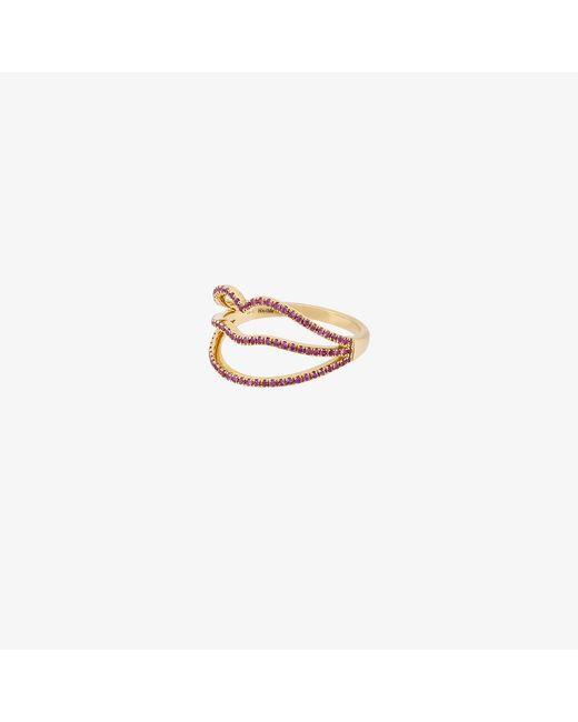 Rosa De La Cruz   Metallic Lips Diamond Ring   Lyst