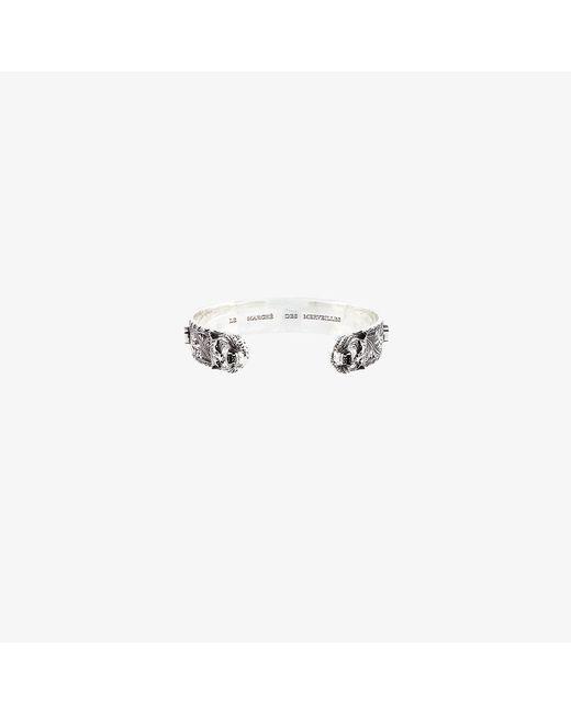 Gucci   Metallic Tiger Head Zirconium Bracelet for Men   Lyst