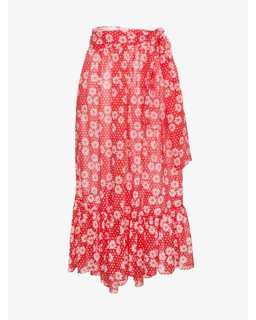 Cheap Sale Latest Nicole Printed Cotton-voile Maxi Skirt - Black Lisa Marie Fernandez Countdown Package Cheap Price 00gClNYnI