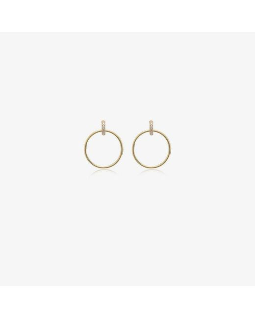 Spinelli Kilcollin - Metallic Yellow Gold Casseus huggie Diamond Hoop Earrings - Lyst