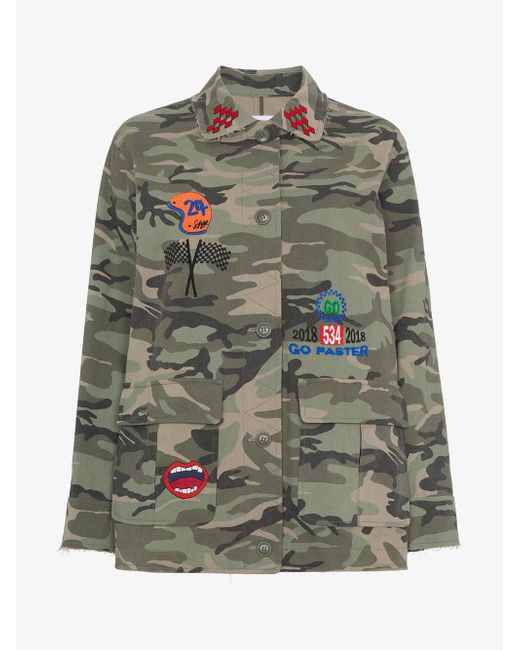 SJYP - Green Camouflage Print Jacket - Lyst