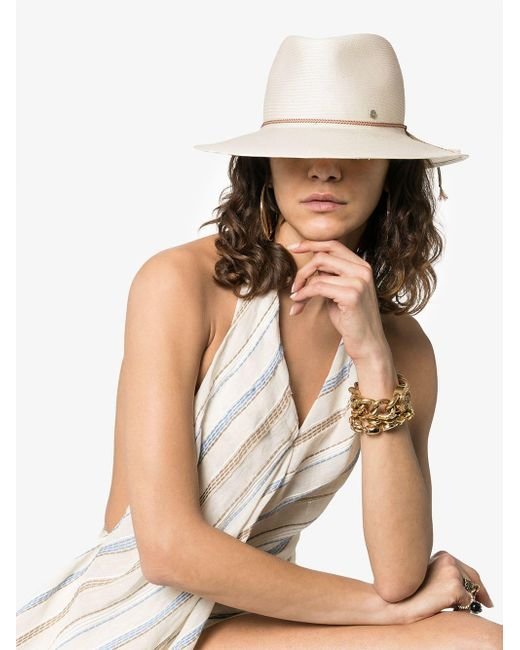 d60b2095fb986 ... Maison Michel - White Charles Rollable Paper Straw Fedora Hat - Lyst ...