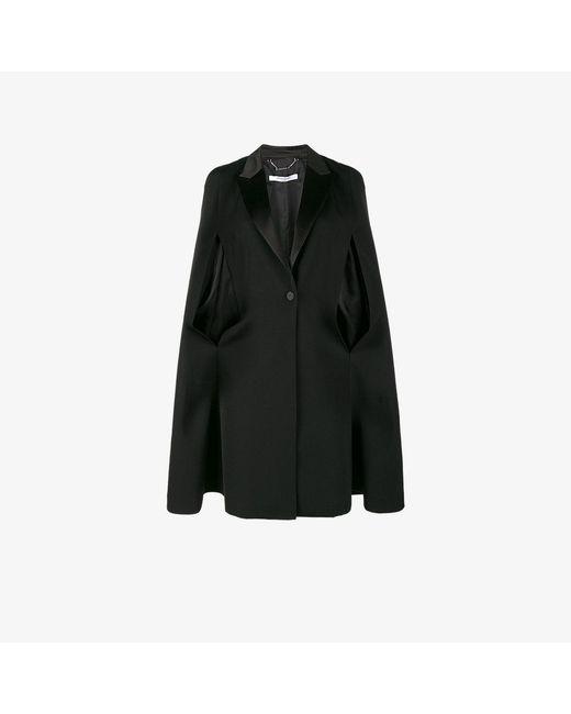 Givenchy | Black Cape Detail Blazer | Lyst