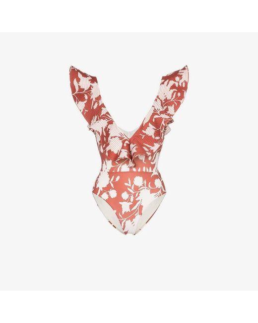 Johanna Ortiz - Multicolor Bahia Sonora Ruffle Swimsuit - Lyst
