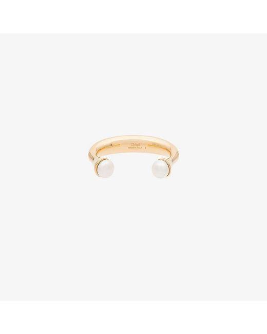 Chloé - Multicolor Metallic Pearl Embellished Wrist Cuff - Lyst