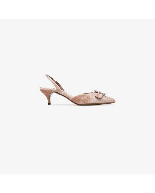Tabitha Simmons - Pink Bells 50 Velvet Slingback Pumps - Lyst
