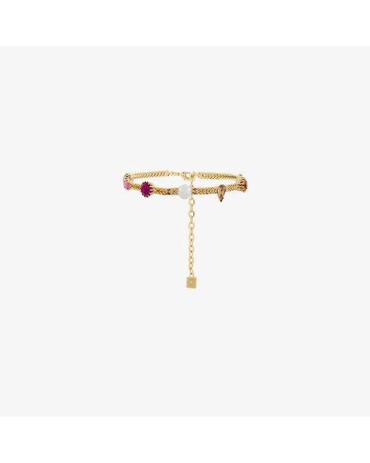 DANNIJO - Metallic Draven Jewel Embellished Choker - Lyst