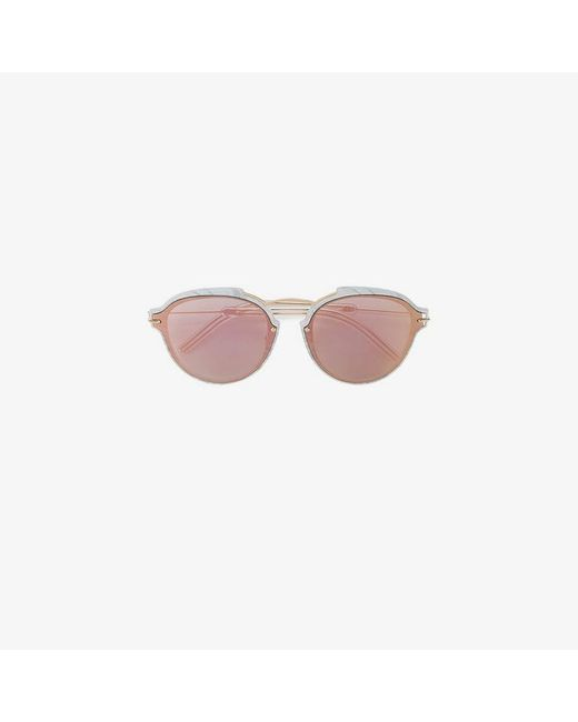 Dior - Gray Reflective Lense Sunglasses - Lyst