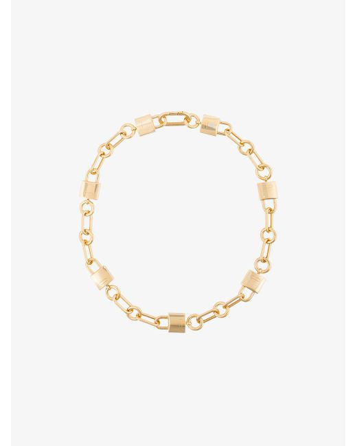 Ambush - Gray Gold Padlock Link Necklace - Lyst