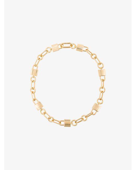 Ambush - Metallic Gold Padlock Link Necklace - Lyst