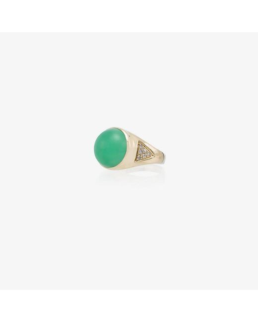Jacquie Aiche - Metallic 14kt Gold Diamond Signet Ring - Lyst