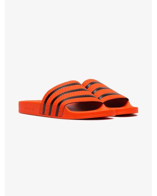 cd61b3bcd5c5 ... Adidas - Multicolor Orange Adilette Rubber Slides for Men - Lyst ...