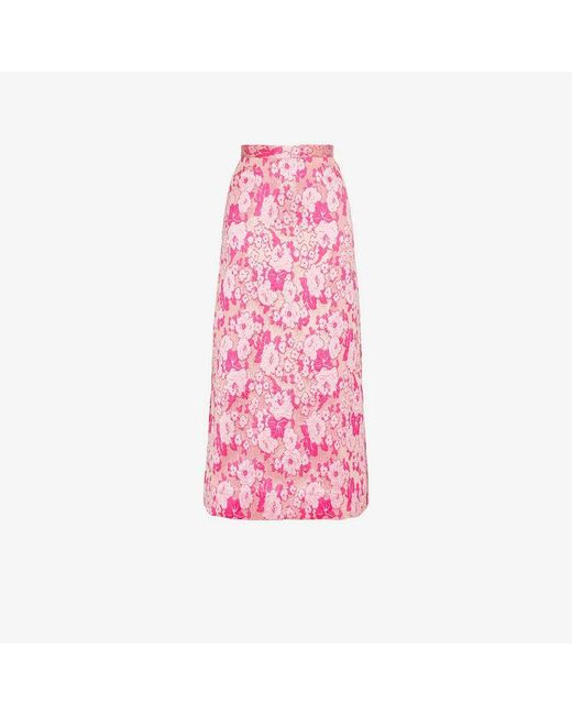 The Vampire's Wife - Pink Brocade Silk Midi Skirt - Lyst