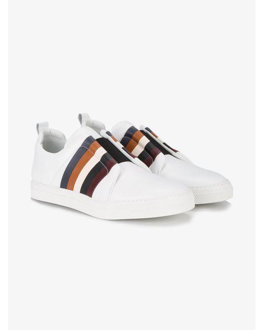 Pierre Hardy | White Slider Multi Stripe Sneakers for Men | Lyst