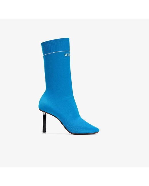 Vetements - Blue 100 Sock Boots With Lighter Heel - Lyst
