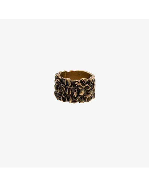 Gucci - Metallic Lion Head 15mm Ring for Men - Lyst