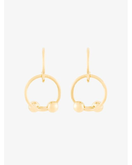 J.W. Anderson - Metallic Looped Double Ball Earrings - Lyst