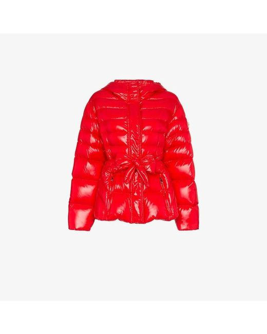 d03073ec1e2b Moncler Genius X Simone Rocha Lolly Bow Front Puffer Jacket in Red ...