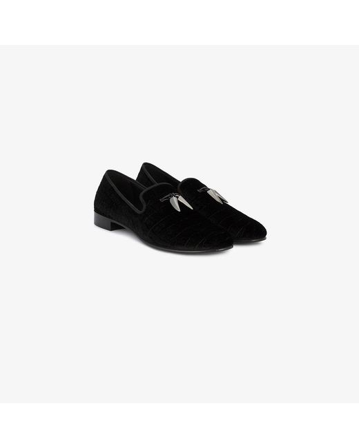 Giuseppe Zanotti | Black Crocodile Embossed Loafers for Men | Lyst
