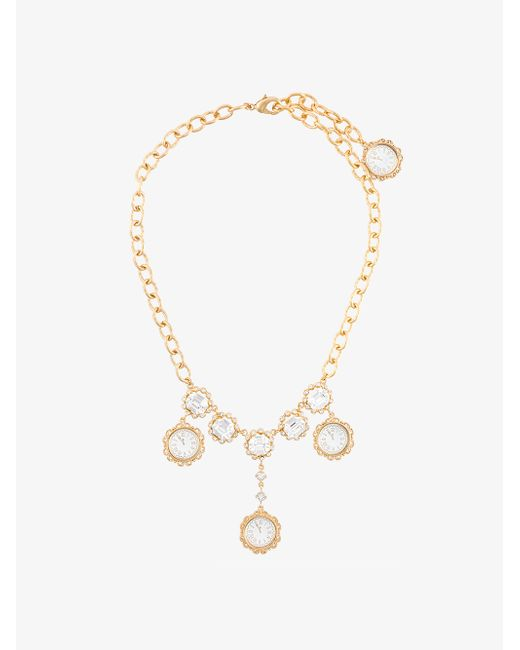 Dolce & Gabbana | Metallic Crystal-embellished Necklace | Lyst