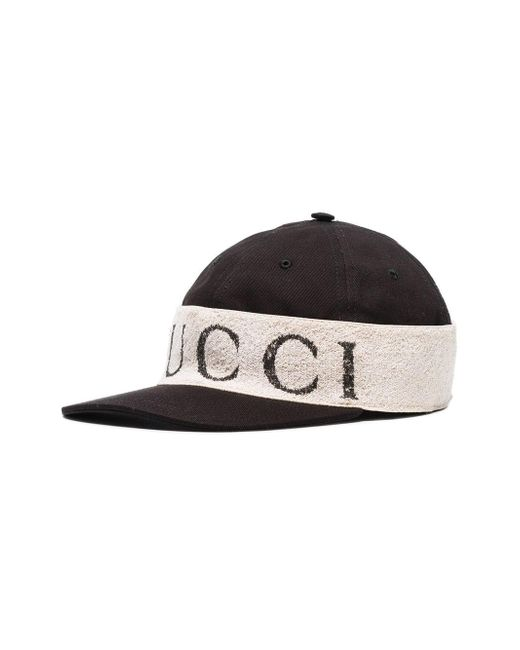 1fe74ff3edad ... Gucci - Black And White Headband Cotton Baseball Hat for Men - Lyst ...