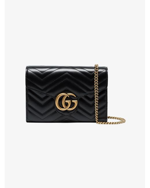 Gucci - Black Gg Marmont Matelassé Mini Bag - Lyst ... 95f4f0873f103