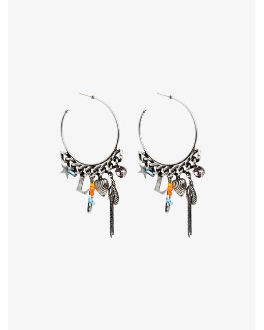 DANNIJO - Metallic Ajani Hoop Earrings - Lyst